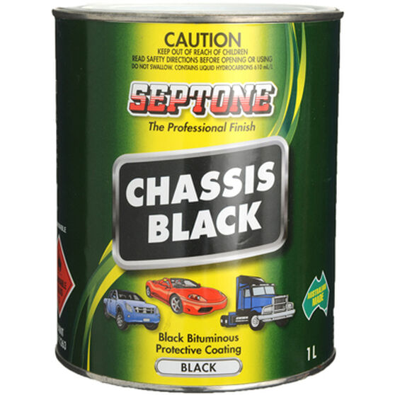 Septone Chassis Paint - Black, 1 Litre, , scanz_hi-res