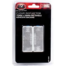 Reflector - Rectangle, 70 x 28mm, Clear, 2 Pack, , scanz_hi-res