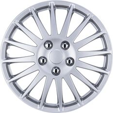 SCA Wheel Covers - Turbine, Silver, 14in, Set of 4, , scanz_hi-res
