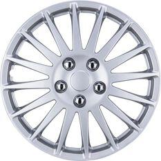 Wheel Covers - Turbine 16, Silver, 4 Piece, , scanz_hi-res