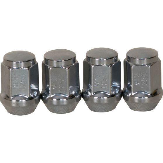 Calibre Wheel Nuts, Tapered, Chrome - SN12125, 12mm x 1.25mm, , scanz_hi-res