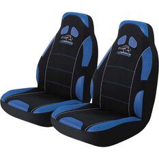 Performance Racing Seat Covers - Blue, Built-in Headrests, Size 60, Front Pair, Airbag Compatible, , scanz_hi-res