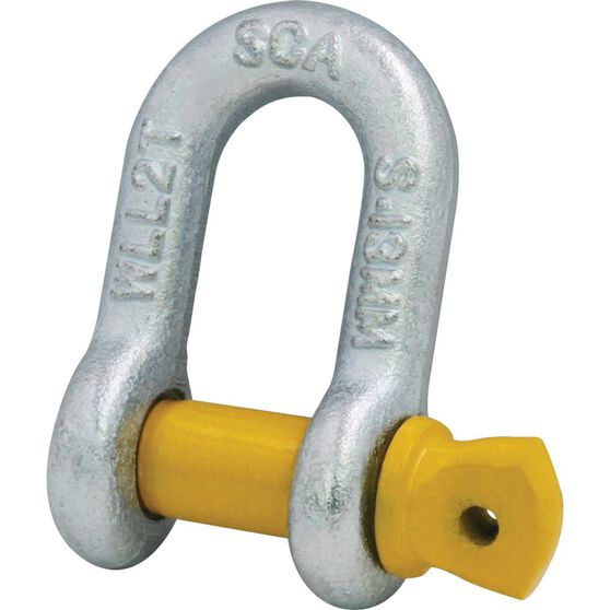 SCA D-Shackle - Rated to 2000kg, 13mm, , scanz_hi-res