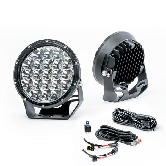 Enduralight 175mm LED Driving Lights 63W with harness, , scanz_hi-res