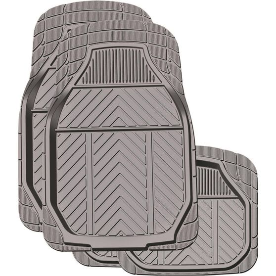 Ridge Ryder Deep Dish Car Floor Mats - Rubber, Charcoal, Set of 4, , scanz_hi-res