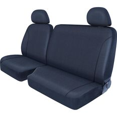 SCA Canvas Ute Seat Covers - Charcoal/Grey Size 401 Front Bucket and Bench (with cut out), , scanz_hi-res