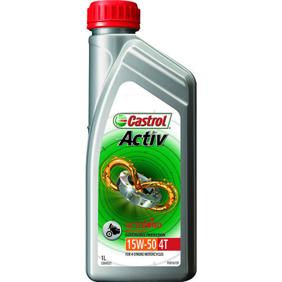 Castrol Activ 4T Motorcycle Oil - 15W-50, 1 Litre, , scanz_hi-res