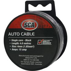 SCA Auto Cable - 15 AMP, 4mm, 4m, Black, , scanz_hi-res
