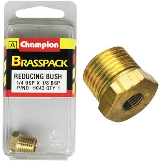 Champion Hex Reducing Bush - 1 / 4-1 / 8inch, Brass, , scanz_hi-res