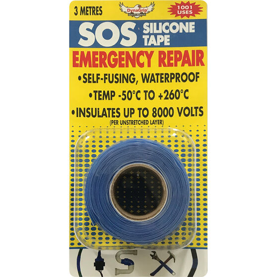 DynaGrip SOS Silicone Tape - Blue, 3m x 25mm, , scanz_hi-res