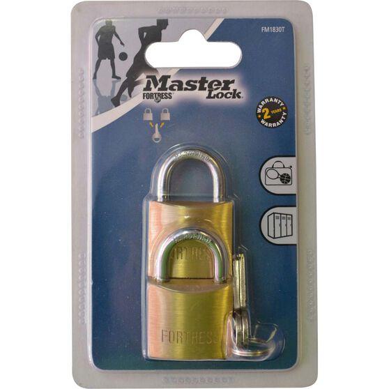Master Lock Fortress Padlock - 30mm, 2 Pack, , scanz_hi-res