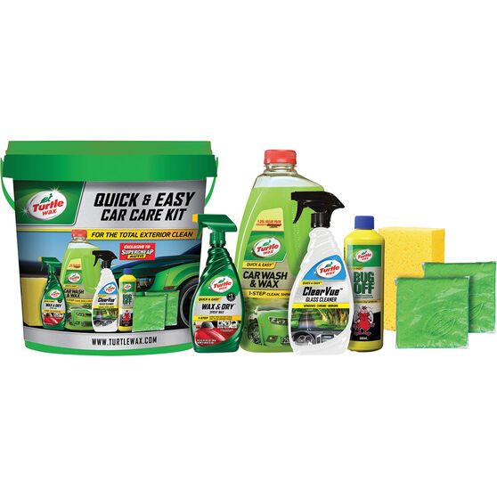 Turtle Wax Quick & Easy Car Care Kit 8pce, , scanz_hi-res