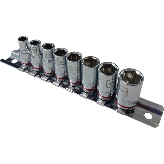 "ToolPRO Socket Rail Set 1/4"" Drive SAE 8 Piece, , scanz_hi-res"