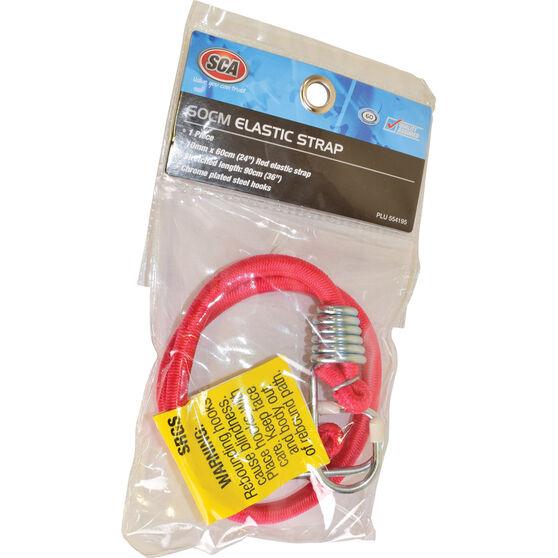 SCA Metal Hook Bungee Cord - 60cm, Red, , scanz_hi-res
