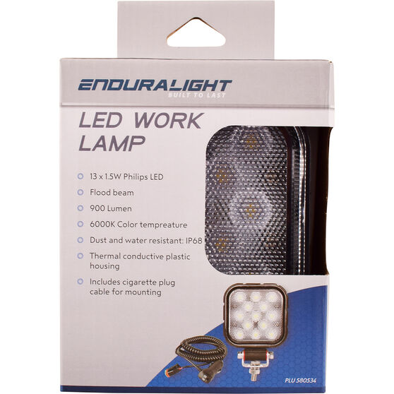 Enduralight Square Work Lamp - LED 19W, 4inch, , scanz_hi-res