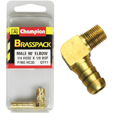 Champion Male Elbow 90° - 1/4 x 1/8 Inch, Brass, , scanz_hi-res