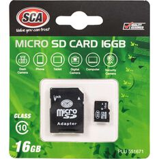 SCA 16GB Micro SD Card Class 10 with Adaptor, , scanz_hi-res