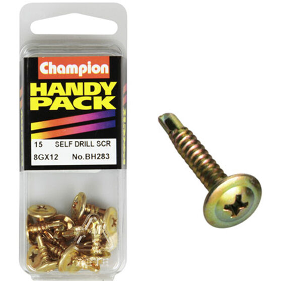 Champion Self Drilling Screws - 8G X 22, BH283, Handy Pack, , scanz_hi-res