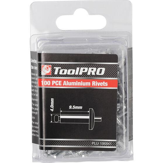 ToolPRO Rivets - 4 x 9.5mm, 100 Piece, , scanz_hi-res