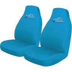 Performance Racing Slip On Seat Covers - Blue, Built-in Headrests, Size 60, Slip On, Front Pair, , scanz_hi-res