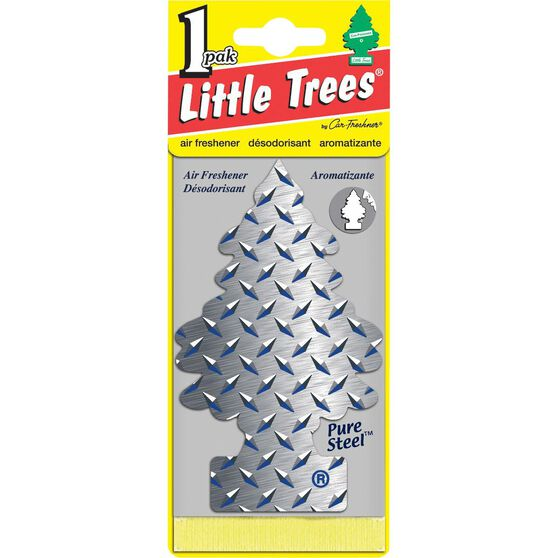 Little Trees Air Freshener - Pure Steel, 1 Pack, , scanz_hi-res