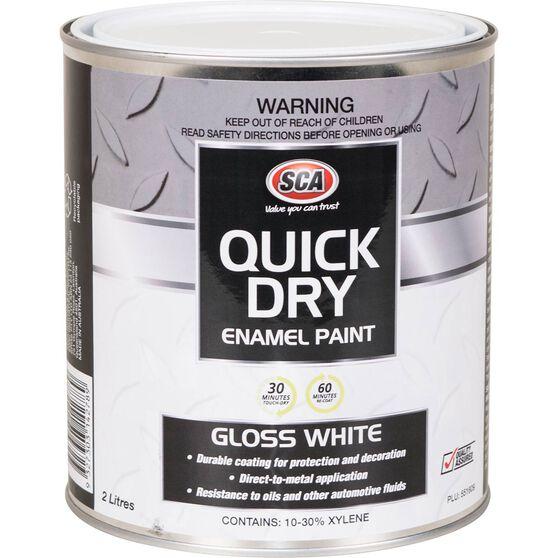 Quick Dry Enamel White 2 Litre, , scanz_hi-res