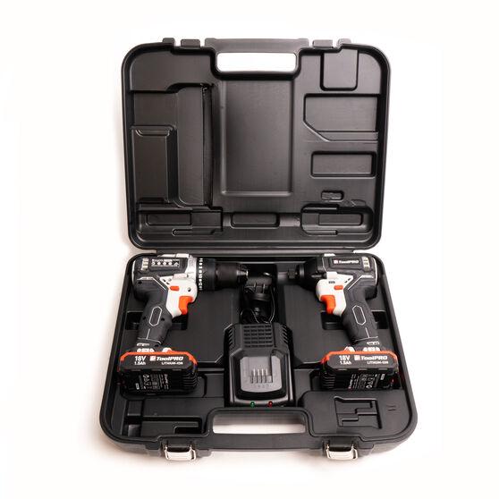 ToolPRO 18V Drill Driver & Impact Driver Kit, , scanz_hi-res