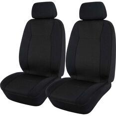 Jacquard Seat Covers - Black, Adjustable Headrests, , scanz_hi-res