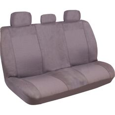 Ilana Imperial Seat Covers - Charcoal, Adjustable Headrests, Rear Seat, , scanz_hi-res
