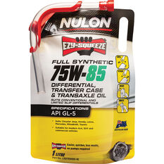 Nulon EZY-SQUEEZE Differential, Transfer Case & Transaxle Oil 75W-85 1 Litre, , scanz_hi-res