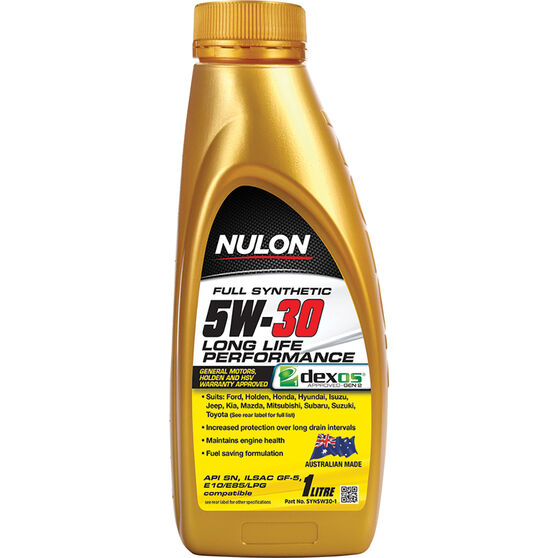Nulon Full Synthetic Long Life Engine Oil 5W-30 1 Litre, , scanz_hi-res