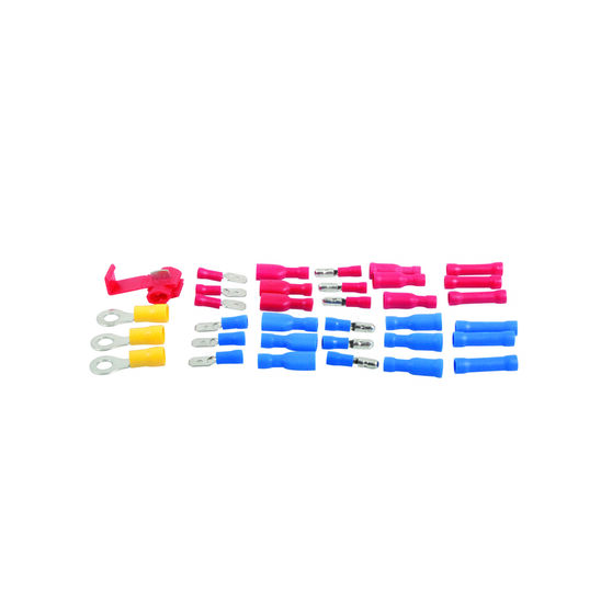 SCA Electrical Terminals - Female Blade, Red, 6.3mm, 10 Pack, , scanz_hi-res