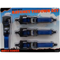 Ridge Ryder Ratchet Tie Down - 4.65m, 650kg, 4 Pack, , scanz_hi-res