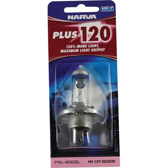 Narva Headlight Globe - Plus 120, H4, 12V, 60/55W, , scanz_hi-res