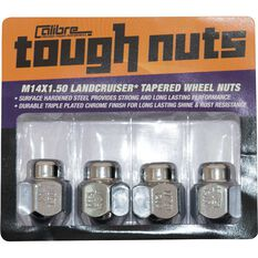 Calibre Wheel Nuts - Tapered, Chrome ,For Toyota Landcruiser - 5 Stud, SN14150LC, 14mm x 1.5mm, , scanz_hi-res