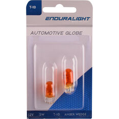 Wedge Bulb - Amber, 12V, 5W, T-10MM, , scanz_hi-res
