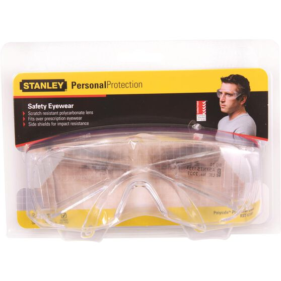 Stanley Polysafe Safety Glasses - Clear Lens, , scanz_hi-res