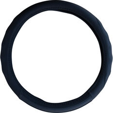 SCA Steering Wheel Cover - PU Racing, Black, 380mm diameter, , scanz_hi-res