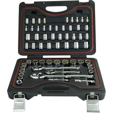 Socket Set - 1/4 / 3/8 / 1/2, Metric/Imperial, 59 Piece, , scanz_hi-res