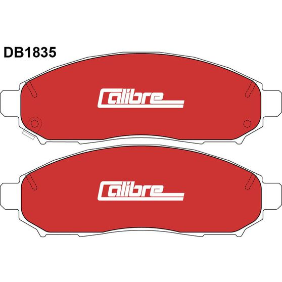 Calibre Disc Brake Pads - DB1835CAL, , scanz_hi-res