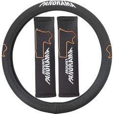 Bathurst Steering Wheel Cover & Seat Belt Buddies - Mount Panorama, , scanz_hi-res