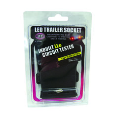 Trailer Socket - 7 Pin Flat, LED, , scanz_hi-res