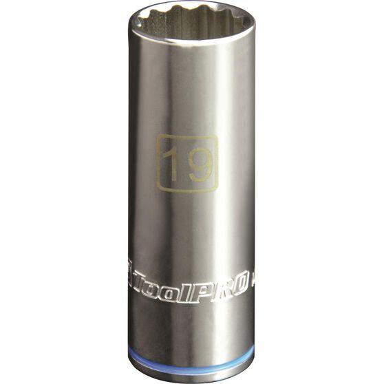 ToolPRO Single Socket - Deep, 1 / 2 inch Drive, 19mm, , scanz_hi-res