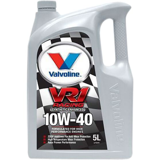 Valvoline VR1 Racing Engine Oil - 10W-40 5 Litre, , scanz_hi-res