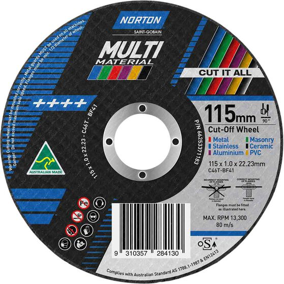 Norton Multi Purpose Grinding Disc 115mm, , scanz_hi-res