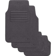SCA Optimum Car Floor Mats - Carpet, Grey, Set of 4, , scanz_hi-res