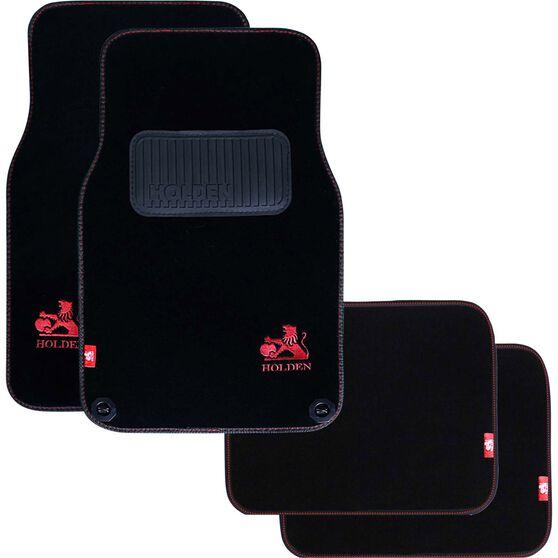 Holden Car Floor Mats - Carpet, Black, Set of 4, , scanz_hi-res