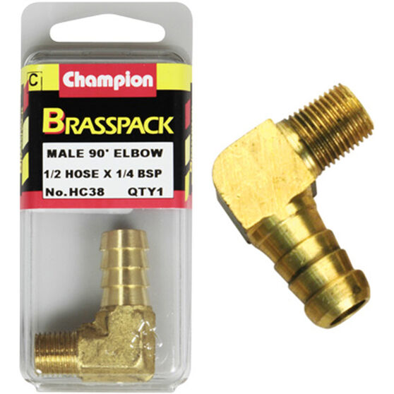 Champion Male Elbow 90° - 1/2 x 1/4 Inch, Brass, , scanz_hi-res