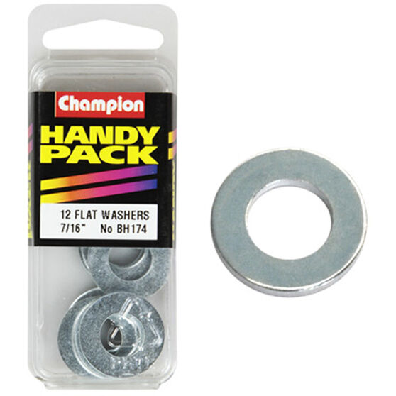 Champion Flat Steel Washers - 7 / 16inch, BH174, Handy Pack, , scanz_hi-res