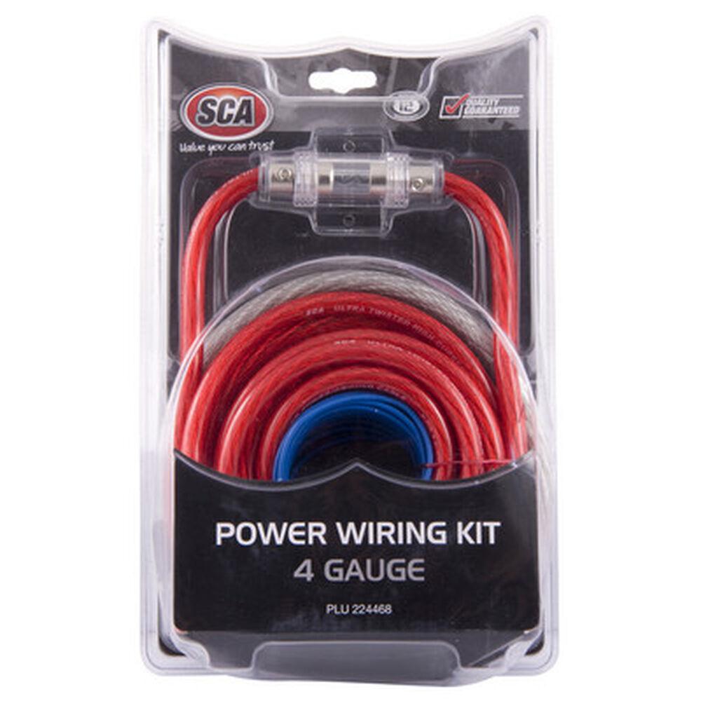 Sca Power Wiring Kit 4g Supercheap Auto New Zealand 4 Gauge Amplifier